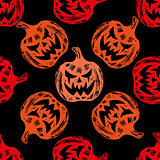 Pumpkin Background seamless pattern.