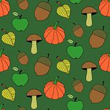 Cartoon Autumn Colorful Seamless Pattern