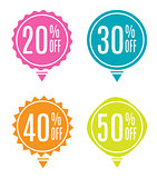 Sale Label Set Vector Illustration