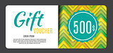 Gift Voucher Template Vector Illustration for Your Business