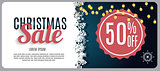 Christmas Sale, Discount Voucher Banner Background. Business Dis