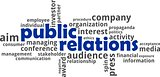word cloud - public relations
