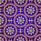 Floral violet seamless pattern