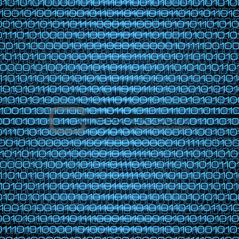 Abstract blue binary computer code technology data background