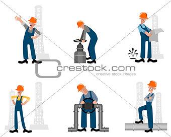 Six oilman set