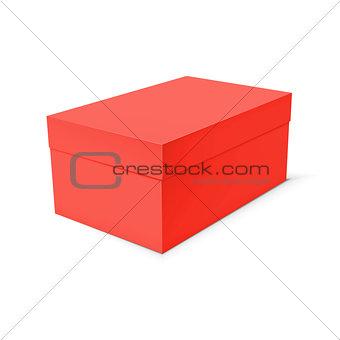Blank paper or cardboard box template