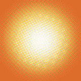 Orange pop art retro background with light spot