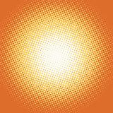 Orange pop art retro background with light spot