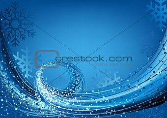 Blue Abstract Christmas Greeting