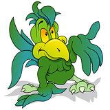 Green Parrot Gesturing