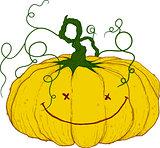 large festive pumpkin