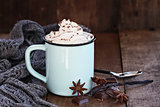 Hot Cocoa or Coffee with Whip Cream