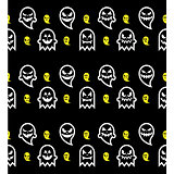 Seamless Halloween ghost pattern