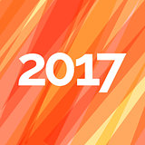 Happy new year 2017 creative greeting card design