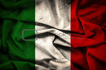 Grunge Flag of Italy - vintage background