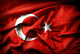 Turkish grunge Flag. An old Turkey