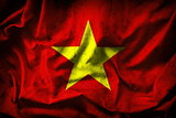 Grunge Vietnam Flag -- vintage background