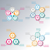 Set elements for infographics, vector illustration.