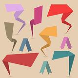 Set paper design elements, vector illustration.