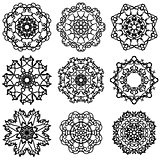 Round Ornamental Geometric  Pattern.
