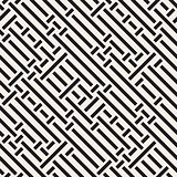 Vector Seamless Black And White Irregular Diagonal Lines Pattern
