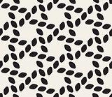 Vector Seamless Black and White Lattice Geometric Pattern