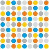 Tile vector pattern with polka dots on white background