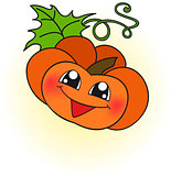 happy orange pumpkin