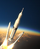 Space Launch System Solid Rocket Boosters Separation In Stratosphere