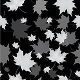 Seamless background pattern of autumn leaves. Falling , grief and sadness.