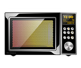 Image quality black enabled microwave oven with electronic control