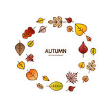 Vector nice modern fall leaves autumn decorative background banner