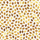 Vector Seamless Golden Gradient Rhombus Jumble Pattern
