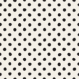 Vector Seamless Black And White Jumble Circles Pattern