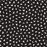 Vector Seamless Black And White Jumble Triangle Pattern