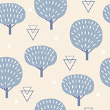 Seamless pattern in modern Scandinavian style. Vector geometry background of north nature.