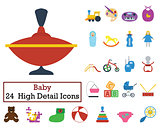 Set of 24 Baby Icons