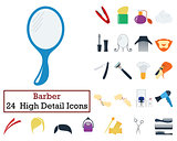 Set of 24 Barber Icons