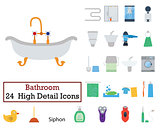 Set of 24 Bathroom Icons