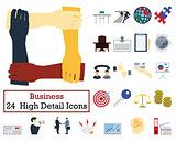 Set of 24 Business Icons