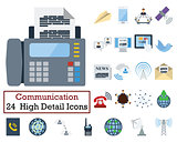 Set of 24 Communication Icons