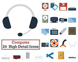 Set of 24 Computer Icons