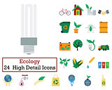 Set of 24 Ecology Icons
