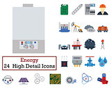 Set of 24 Energy Icons