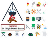 Set of 24 Fishing Icons