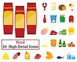 Set of 24 Food Icons