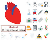Set of 24 Medical icons