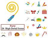 Set of 24 Celebration Icons