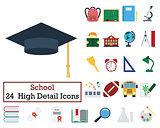 Set of 24 Education Icons