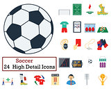 Set of 24 Football Icons
